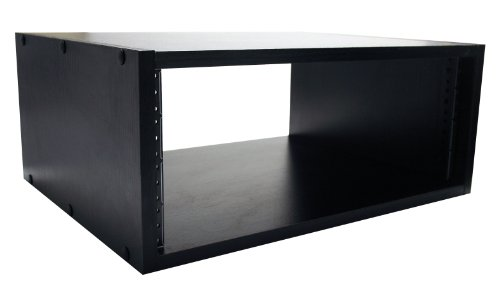 "Gator Cases Wooden Studio Rack; 4U Size with 15.25"" Depth - Black (GR-STUDIO-4U)"
