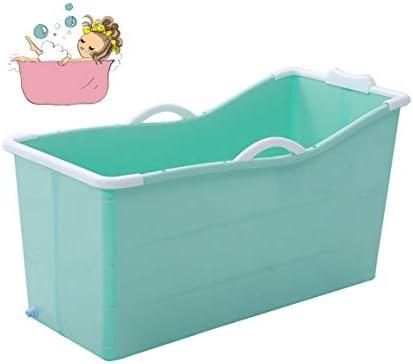 折りたたみバスタブ GYF 折り畳み式バスタブ ポータブル大人用バスタブ プラスチックカバーホーム全身 子供用入浴バケツ 厚くなった大人の浴槽 折りたたみ式バスタブ117x52x63cm (Color : Blue)
