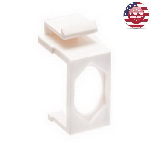 25 Pack X Feed-Thru Keystone Insert - White - By Nexiron (Feed Thru Insert)