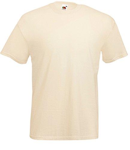 Homme Pour shirt T À Ecru Fruit Courtes Manches Of The Loom an6PSxq