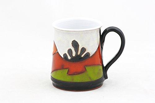 Pottery Beer Mug 24 oz, Ceramic Stein, Pottery Mug for Beer and Coffee, Stoneware Large Mug, Groom ()