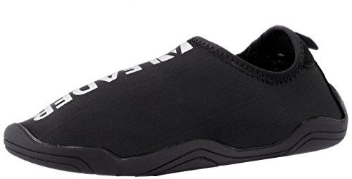 leader 4562320449243 [ Unisex Amphibious Marine Water Snorkeling Aqua Shoes Beach Sandals, Clear
