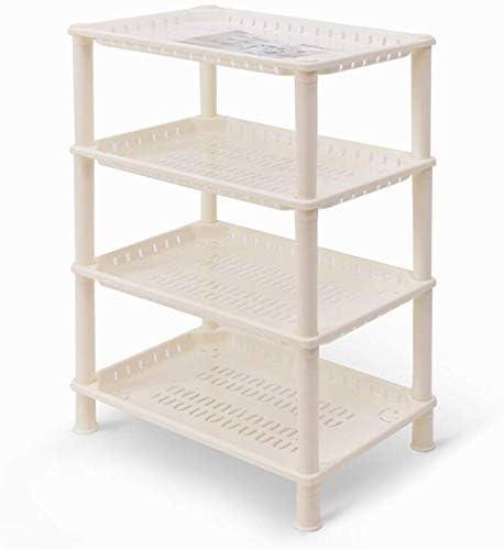 estante Muebles de cocina-Plástico Estantes de almacenamiento de baño Estantes de 4 niveles Organizador de esquina para cocina Champú de baño Cosméticos Pequeños gabinetes de cocina y gabine: Amazon.es: Hogar