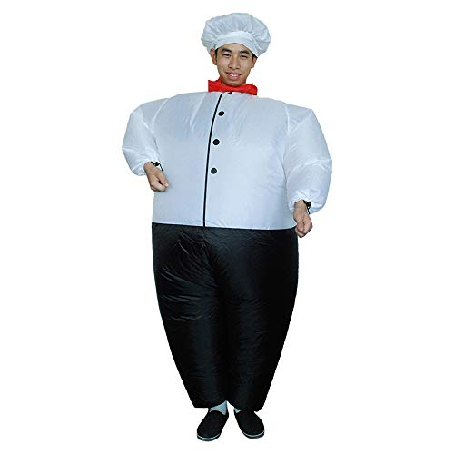 Inflatable Cook Master Chef Costume Halloween Christmas Blow Up Cosplay Party Dress, Adult -