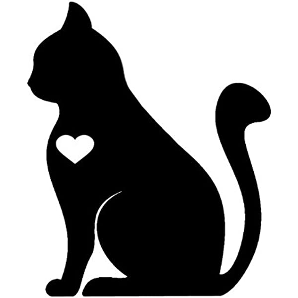 Amazon Com Ni886 I Love Cats Decal 5 5 Inches By 4 5 Inches Premium Quality Black Vinyl Decal Automotive