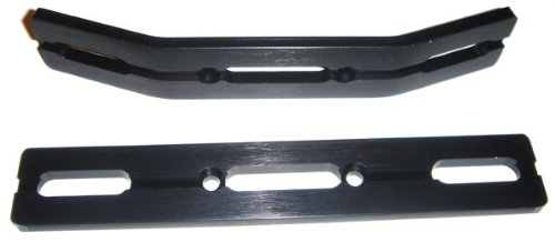RC Raven E-Revo or Revo 3.3 Black Anodized Aluminum Bumper Set ()