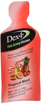 Dex4 Fruit Punch Glucose Gel 15g Pouch, 6pk Review
