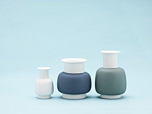 L Normann Copenhagen Vase Nyhavn Mineral-Grau