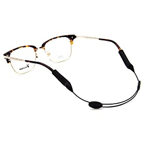 Eyeglasses Strap Adjustable Eyewear Lanyard Sports Eyeglasses Anti - slip Hooks Anti (black)