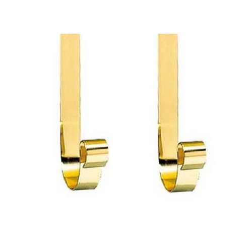(Polished Brass Hooks for Polished Brass Wall Mount Mailboxes, Price Per Pair)
