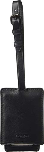 - COACH Men's Luggage Tag in Refined Leather Black One Size