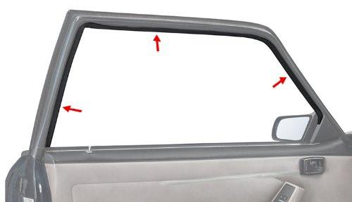 1979-1993 Mustang Coupe /& Hatchback Door Window Run Channel Rubber Weatherstrips LH /& RH Pair