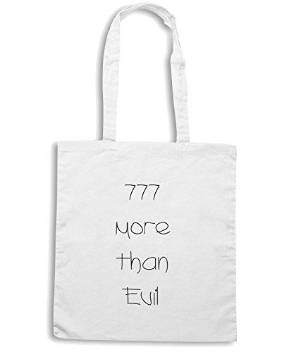 T-Shirtshock - Bolsa para la compra TDM00009 777 more than evil Blanco