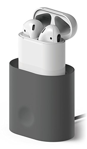 Price comparison product image elago AirPods Stand [Dark Grey] - [Charging Station][Long-Lasting][Cable Management] - for AirPods Case