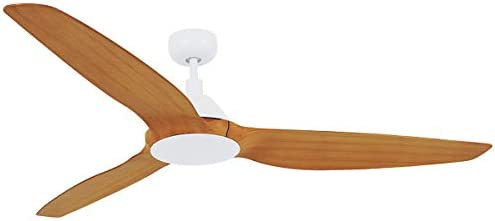 Lucci Air Type A 3 Blade Indoor DC Motor Ceiling Fan with Remote Control, 60-inch, White with Teak