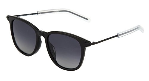 DIOR HOMME BlackTie 195FS Black Wayfarer Polarized Crystal Sunglasses - Dior Sunglasses Wayfarer