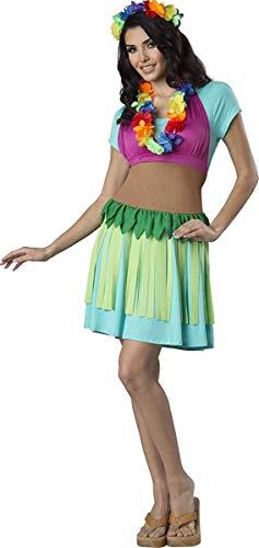 (Fun World Women's Hawaiian Hula Apron Kit, Multi, one Size)