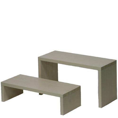 Welcome wood ウッドステージ662LM-GC 2段ワイドタイプ  色はGC ガーデンクリーム  【完成品】 組み立てる必要なし。  個別に移動できるのでとっても便利。 B00EPS1A3Y (GC)ガーデンクリーム  (GC)ガーデンクリーム