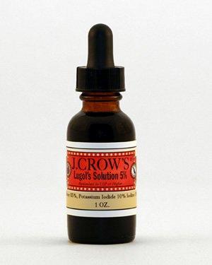 Solution de Lugol J.CROW'S® d'iode 5% - LIVRAISON GRATUITE États-Unis et au Canada