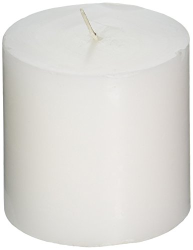 Zest Candle Pillar Candle, 3 by 3-Inch, White