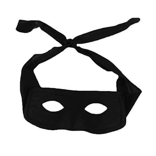 Novelty Giant Black Superhero Villian Bandit Zolo Eye Mask -