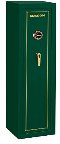 Stack-On SS-10-MG-C 10 Gun Fully Convertible Security Safe with Combination Lock, Matte Hunter Green by Stack-On