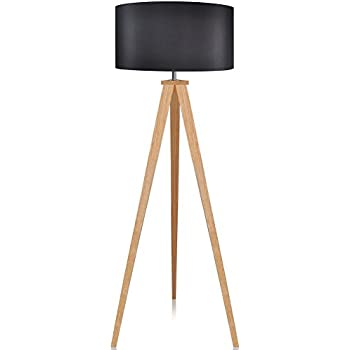 Amazon versanora romanza tripod floor lamp in black office lepower wood tripod floor lamp black lamp shade standing light with e26 lamp base modern design reading light for living room bedroom study room and aloadofball Images