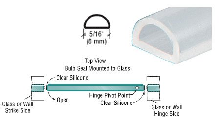 CRL Translucent Silicone Bulb Seal - 95 in long