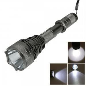 UniqueFire UF-V8 CREE T6 1200LM 5 Mode LED Flashlight Torch Titanium Color