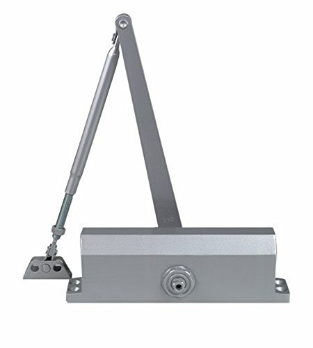 (Dynasty Hardware 3000-ALUM Commercial Grade Door Closer, Size 3 Spring, Sprayed Aluminum)