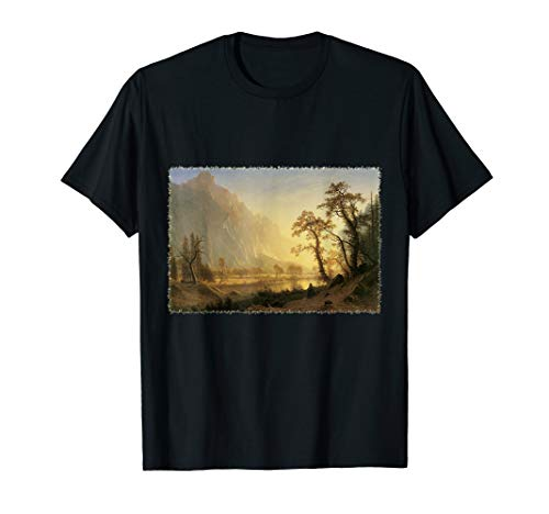 (Sunrise, Yosemite Valley by Albert Bierstadt  T-Shirt)