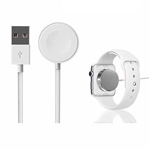 Cargador con Cable de carga magnético inalámbrico rápido portátil de 2M para Apple Watch White