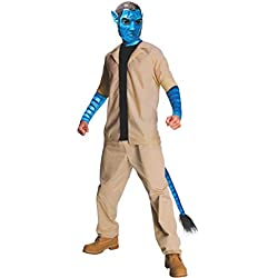 Avatar Jake Sully Costume And Mask, Blue, Standard