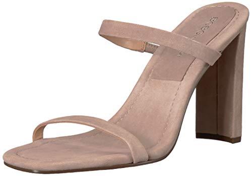 (BCBGeneration Women's Whitney Sleek Mule Heeled Sandal, Light Taupe, 9.5 M US)