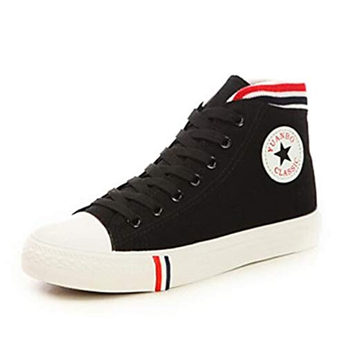 TTSHOES Estate Comoda US6 Primavera Rosso Blu CN36 Scarpe Punta Corda Chiusa Piatto UK4 Di Per Donna EU36 Black Sneakers Nero CWFwrC