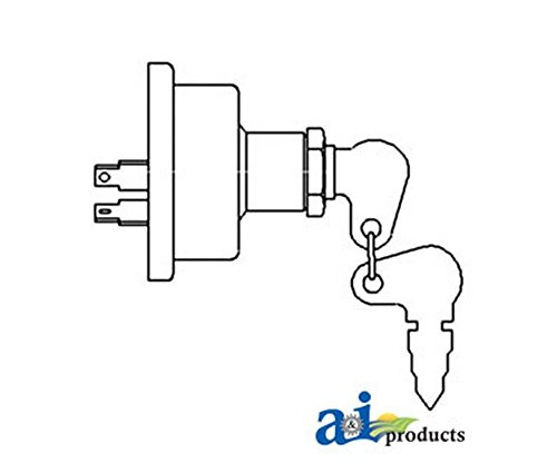 A&I - Switch, Starter - 2 Prong (W/ PERKINS DIESEL ENGINES). PART NO: A-504809M1