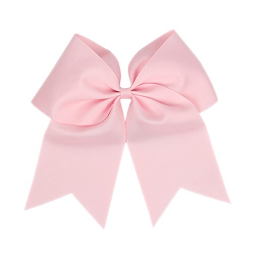 Pink Bow Big - ZOONAI Women Teen Girls Large Classic Hair Accessories Big Hair Bow Ponytail Holder Hair Tie (Pink)