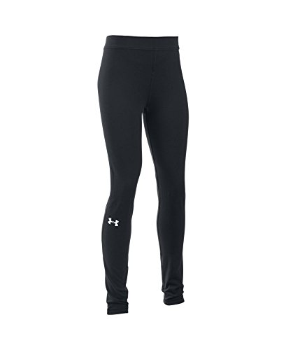 Under Armour Girls' Favorite Campus Legging, Black (001), Youth X-Small