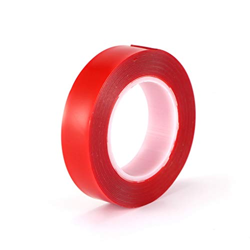 3m Red Double Sided Adhesive Tape High Strength Acrylic Gel Transparent No Traces Sticker, 10pcs