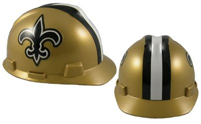 Safety Works NFL Hard Hat, New Orleans (Team Nfl Football Hat)