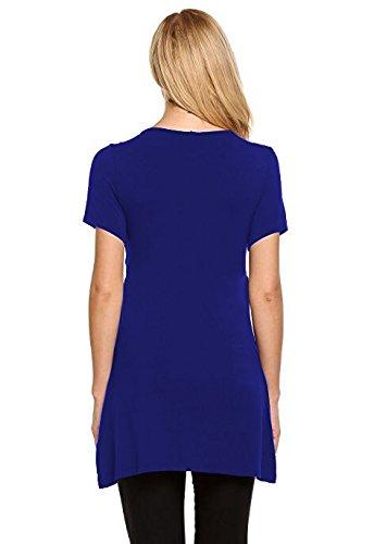 Fashionable Gravidanza Magliette Girocollo Shirt Allattamento Blu Taglie Manica T Estivi Elegante Premaman Donna Huixin Ragazza Forti da Abbigliamento Solido Abbigliamento Incinta Corta 7xBqWadp