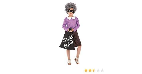 Bristol Novelty- Burglar Granny (L) Disfraz de abuelita de ladrón ...