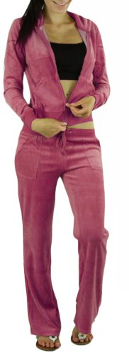Pink Velour Tracksuit - 7