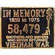 Metal Lapel Pin - Veteran & POW*MIA Pin - POW*MIA In Memory...59-75