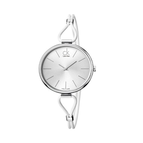 Calvin Klein Women's K3V231L6 White Leather Analog Watch