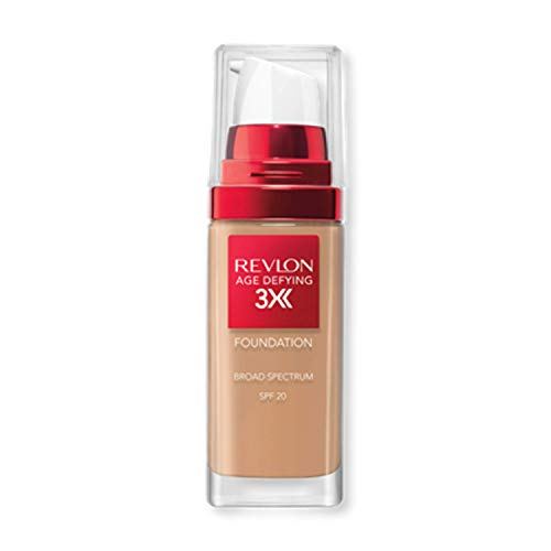 Revlon Age Defying 3X Makeup Foundation, Firming, Lifting and Anti-Aging Medium, Buildable Coverage with Natural Finish…