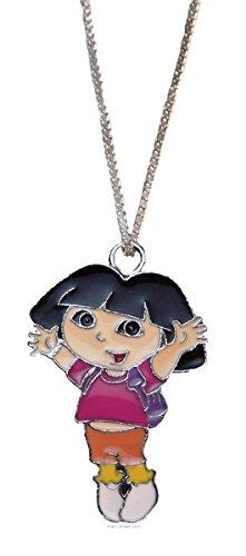 Dora The Explorer Character Enamel Filled Pendant NECKLACE