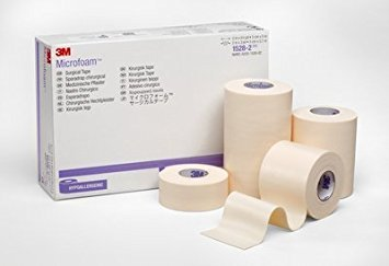 3M Microfoam Surgical Tape 1'' x 5 1/2 yd, stretched Box of 12 by DIRECT