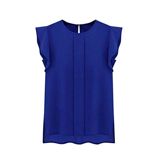Toraway Blouses, Women Summer Tulip Sleeve Chiffon Blouse Shirt (XXXX-Large, Green)