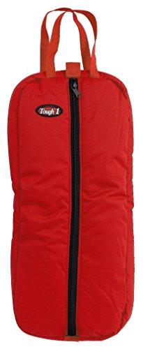 - Tough 1 Heavy Denier Nylon Bridle/Halter Bag, Red